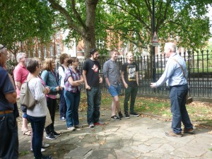 The group learning about Sadler's Wells